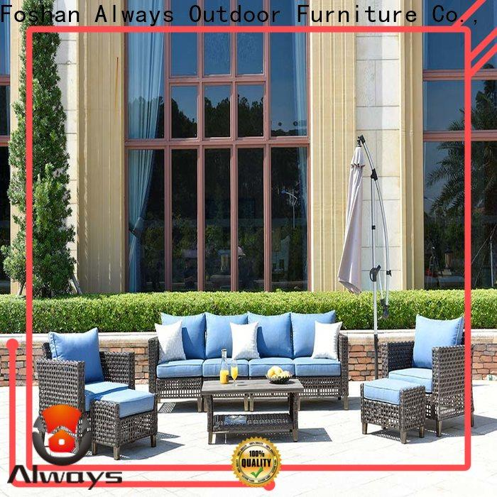 weatherproof outside patio furniture workmanship from China for terraces