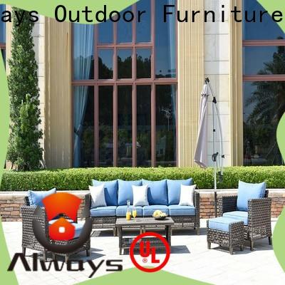 weatherproof resin wicker patio furniture material couch for gardens