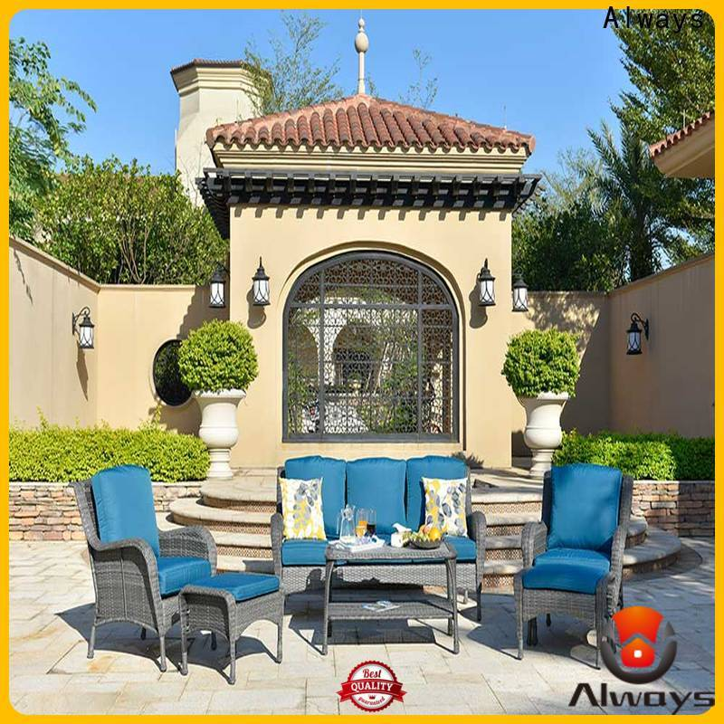 Always beautiful wicker outdoor furniture set for swimming pools for outdoor leisure for places