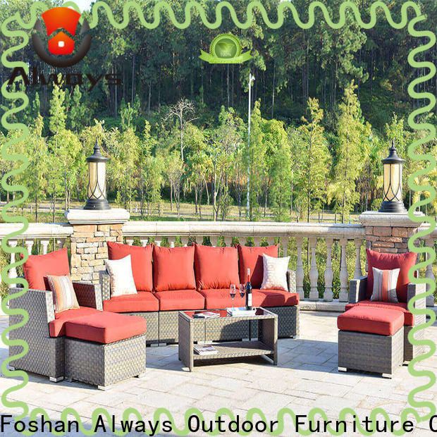 fashionable wicker style patio furniture big factory price for swimming pools for outdoor leisure for places