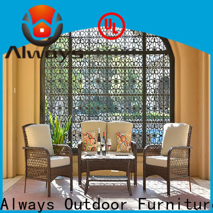 Always weatherproof wicker outdoor furniture set for swimming pools for outdoor leisure for places