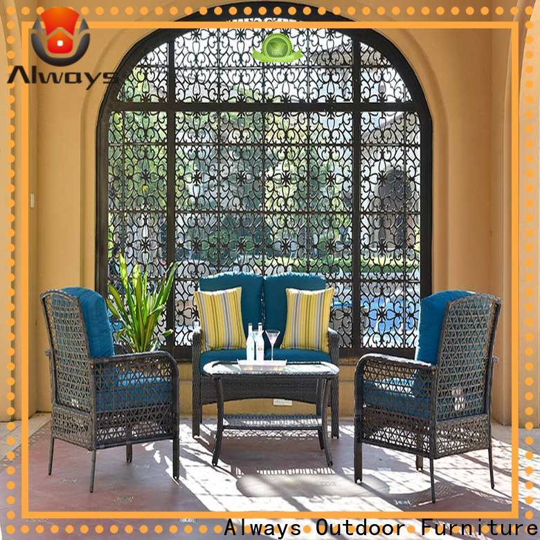 Always commercial outdoor furniture wholesale from China for gardens