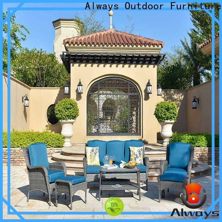 Always color all weather wicker sofa set for swimming pools for outdoor leisure for places