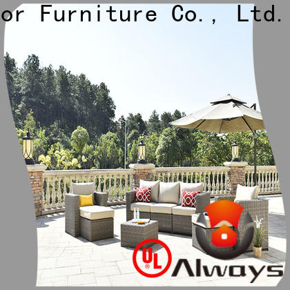 Always rattan outside patio furniture set for gardens