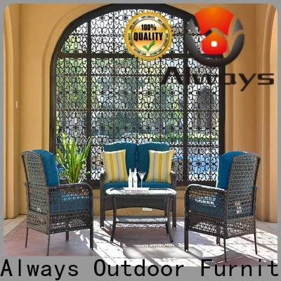 Always durable wicker outdoor sofa set for sale for gardens