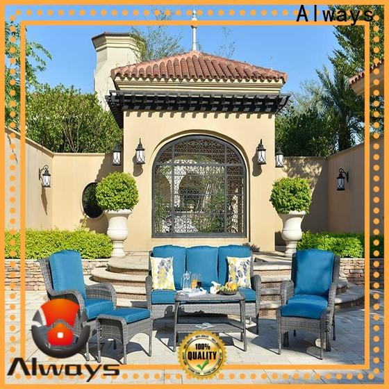 beautiful resin patio furniture table from China for gardens