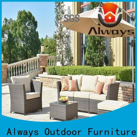 Always highgrade wicker outdoor sofa set couch for swimming pools for outdoor leisure for places