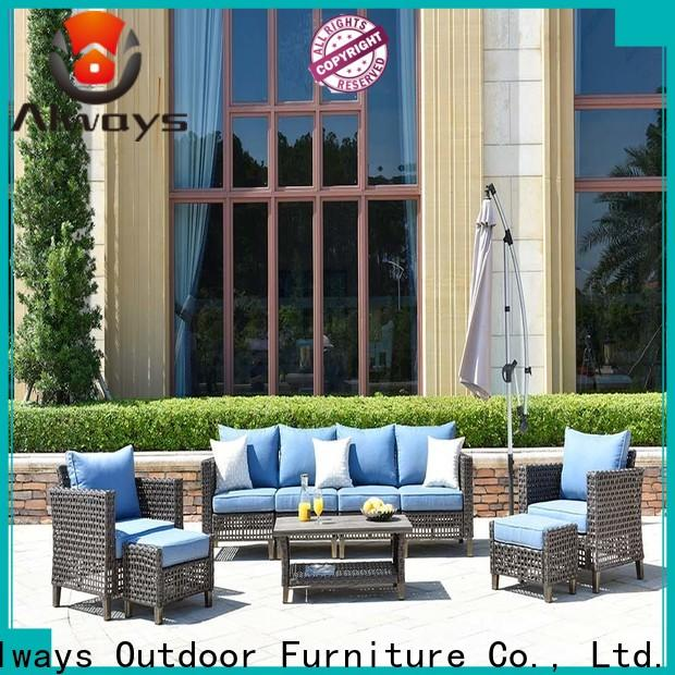 Always comfortable sectional patio furniture promotion for terraces