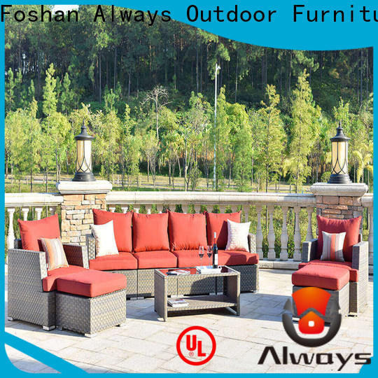 high quality wicker patio sofa outdoor set for gardens