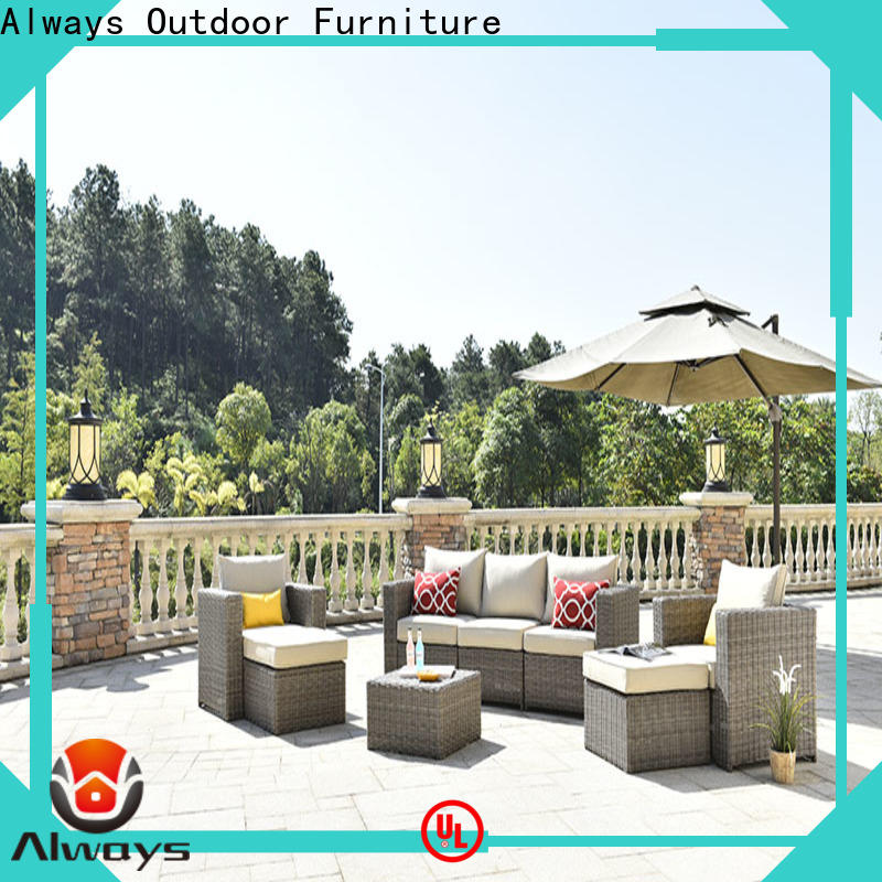 Always fashionable wicker outdoor furniture environmentally friendly for gardens