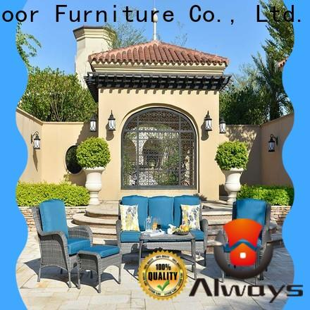 Always weatherproof commercial outdoor furniture wholesale couch for terraces