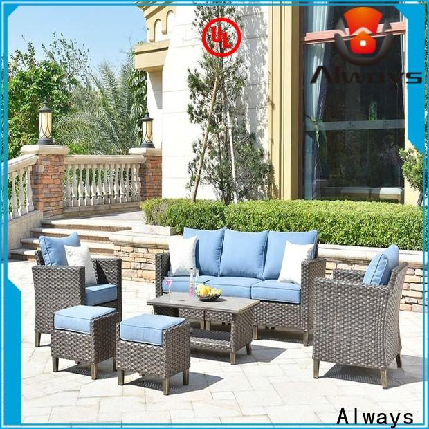 Always cane wicker style patio furniture promotion for swimming pools for outdoor leisure for places