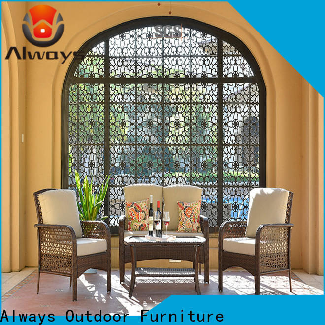 Always petrior dining patio furniture from China for gardens
