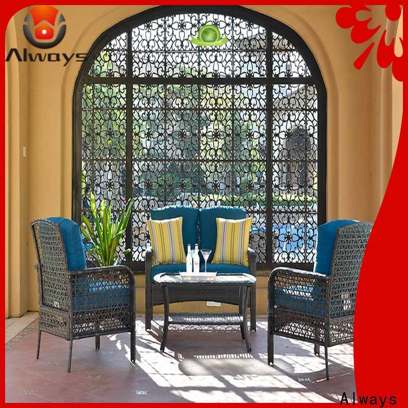 Always style outdoor wicker sofa set for porch
