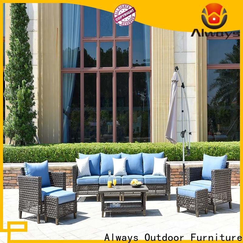 Always fashionable wicker patio sofa environmentally friendly for porch