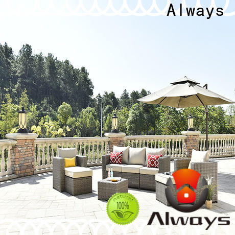 Always petrior all weather wicker sofa factory price for porch