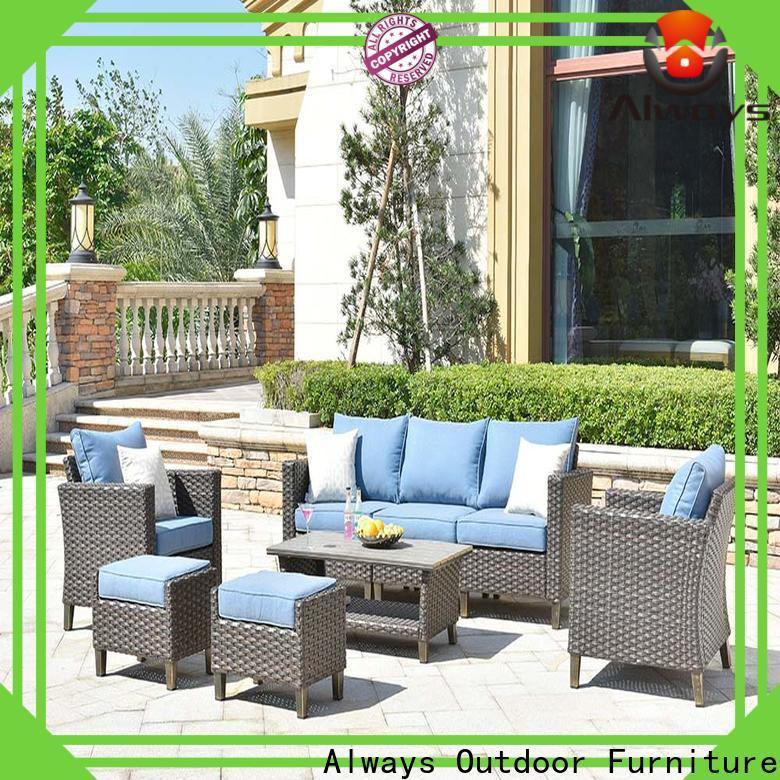Always rimaru outdoor wicker sofa factory price for porch