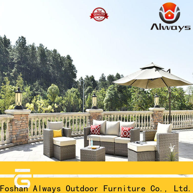 Always high quality resin wicker patio furniture set for terraces