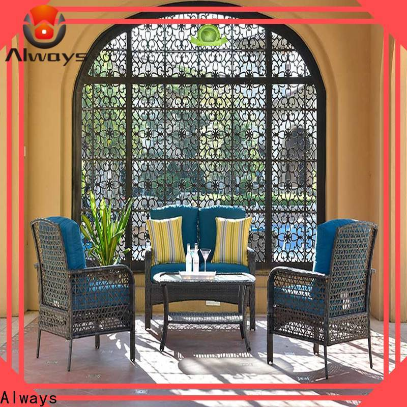 utility resin wicker patio furniture augtus from China for terraces
