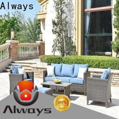 Always utility all weather wicker sofa set for terraces