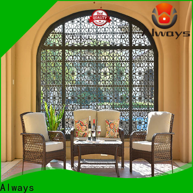 Always munlti-function commercial outdoor furniture wholesale from China for gardens