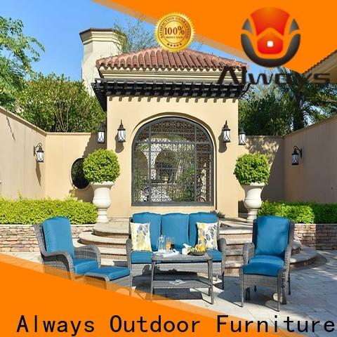 Always fashionable resin wicker patio furniture manufacturer for swimming pools for outdoor leisure for places