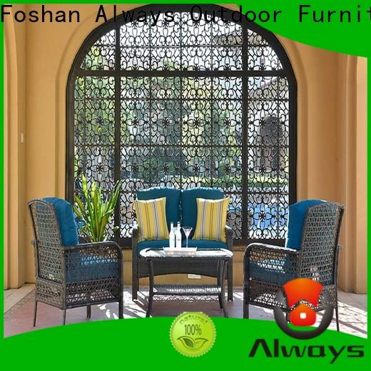 high quality wholesale patio furniture coffee couch for gardens