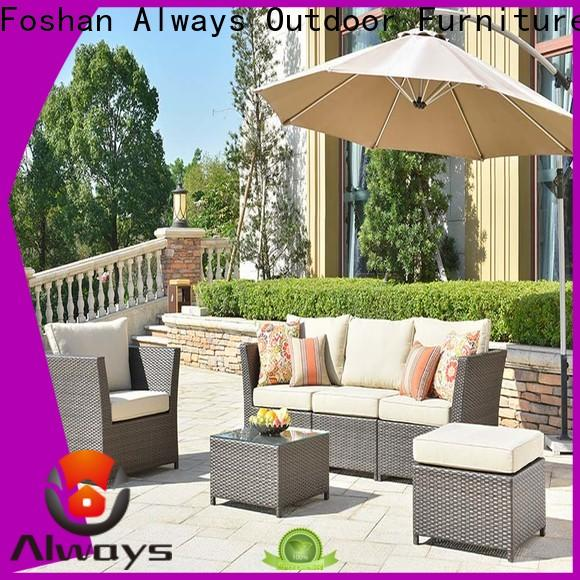 Always utility poolside furniture set for porch