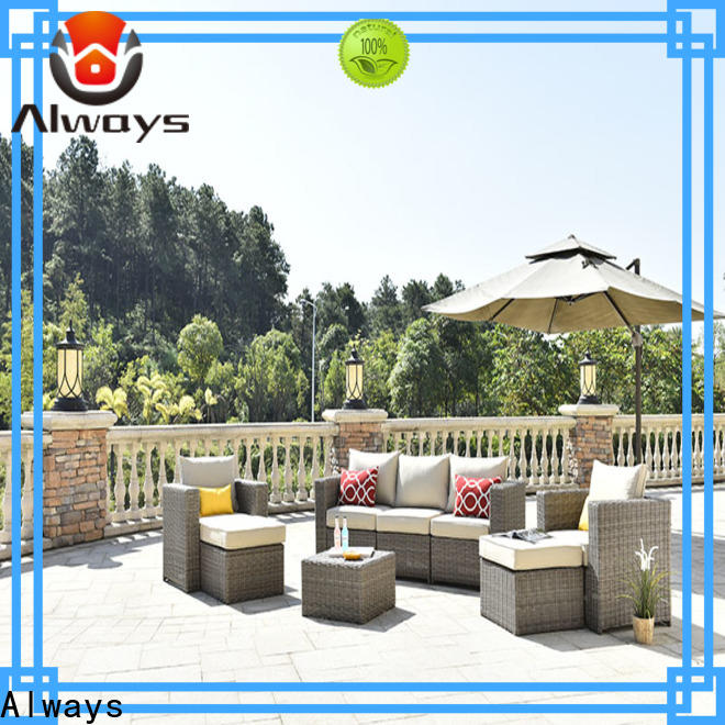 Always customized sectional patio furniture couch for gardens