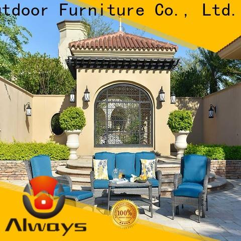 utility wicker outdoor sofa set color promotion for gardens
