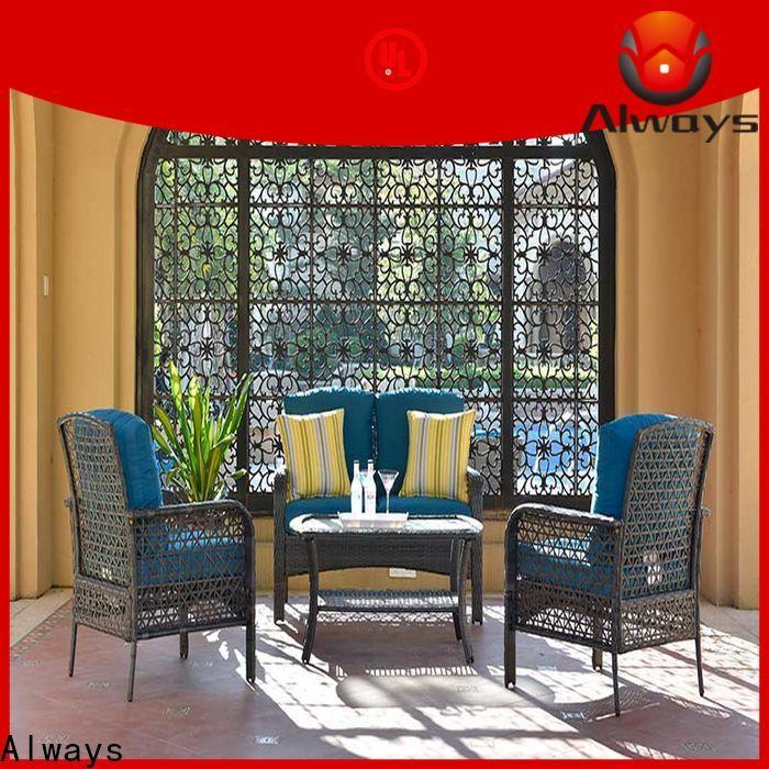 Always wholesale patio furniture manufacturer for gardens