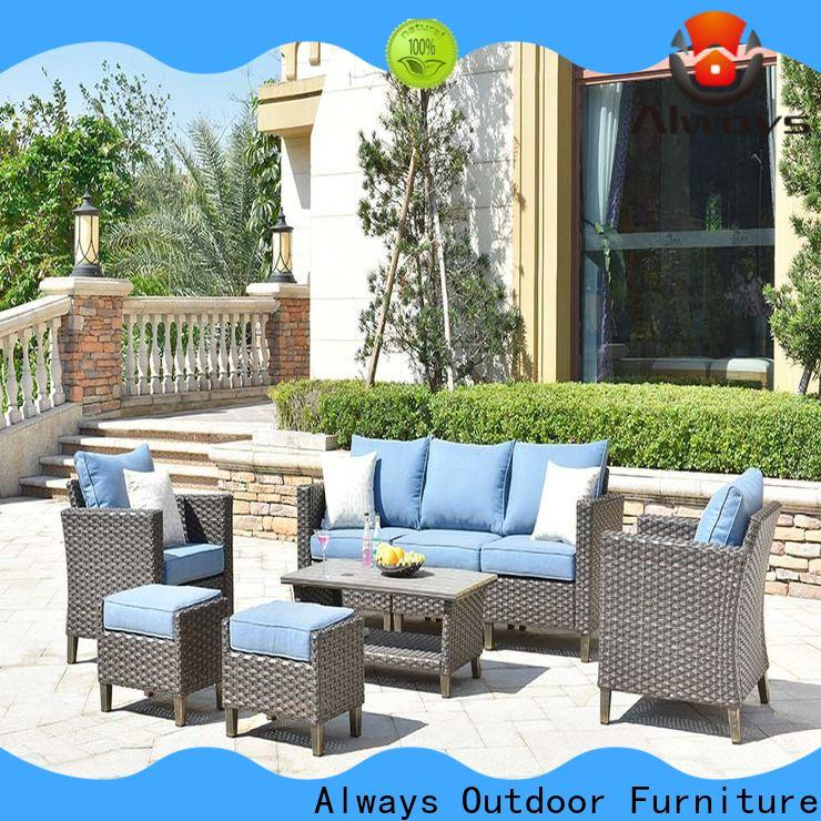 Always fashionable wicker patio sofa for swimming pools for outdoor leisure for places