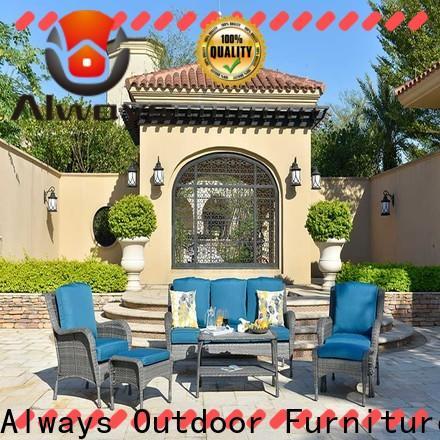Always brown resin patio furniture set for gardens