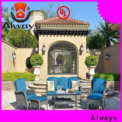 Always cane wholesale patio furniture factory price for terraces
