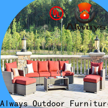 Always comfort all weather wicker sofa manufacturer for porch