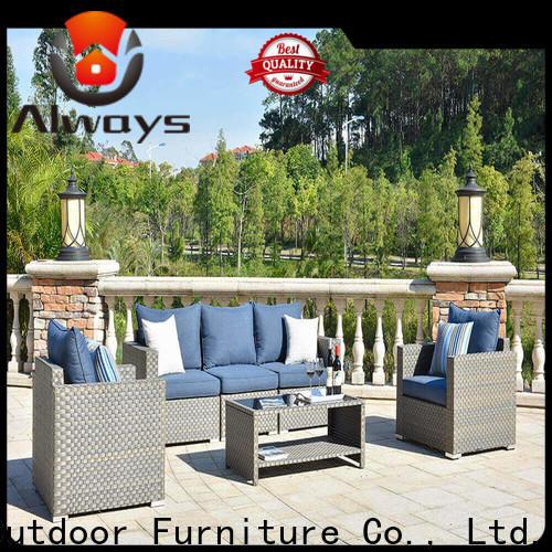 Always material wicker outdoor furniture manufacturer for gardens