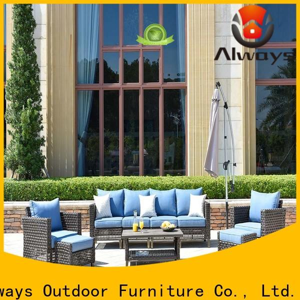 Always munlti-function wholesale patio furniture from China for swimming pools for outdoor leisure for places