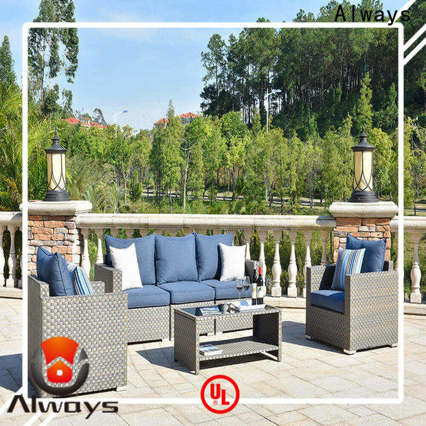 Always outdoor wicker sofa from China for swimming pools for outdoor leisure for places
