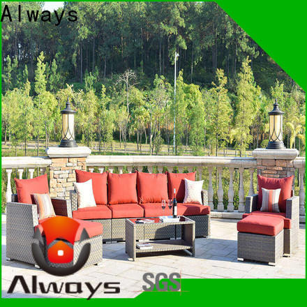 Always comfortable wicker style patio furniture manufacturer for terraces