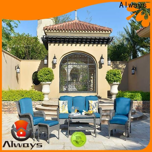 Always high quality wicker style patio furniture promotion for terraces