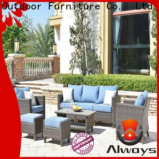 comfortable all weather wicker sofa pe promotion for gardens