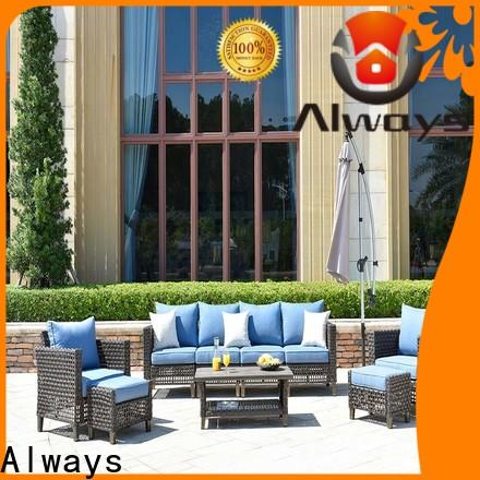 Always high quality resin wicker patio furniture set for gardens
