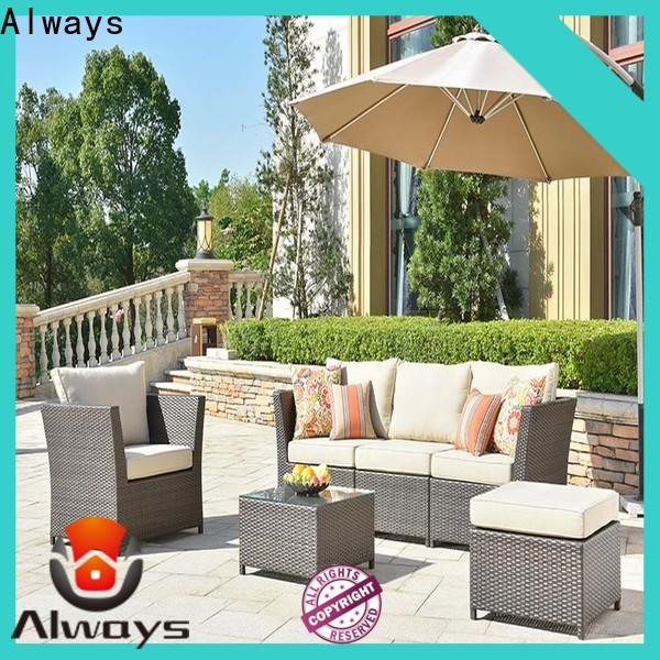 Always cane wicker patio sofa manufacturer for gardens