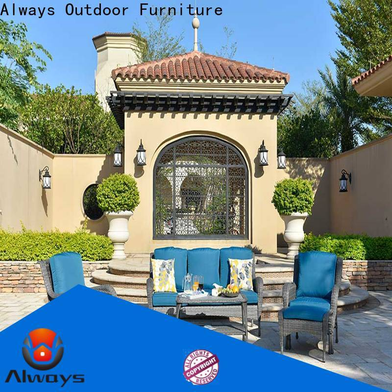utility outdoor wicker patio furniture khaki set for terraces