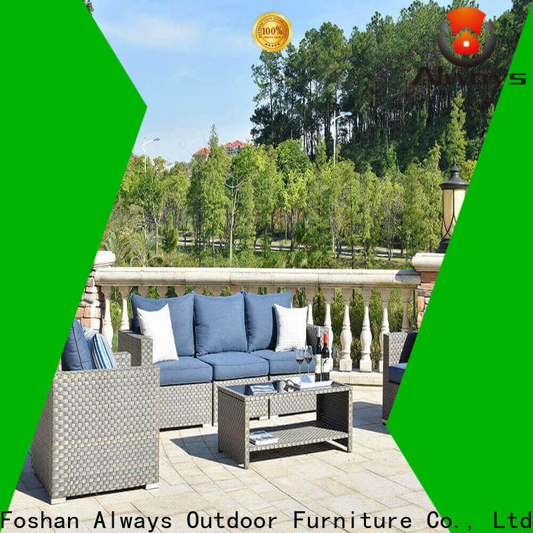 Always style outdoor furniture wholesale couch for terraces