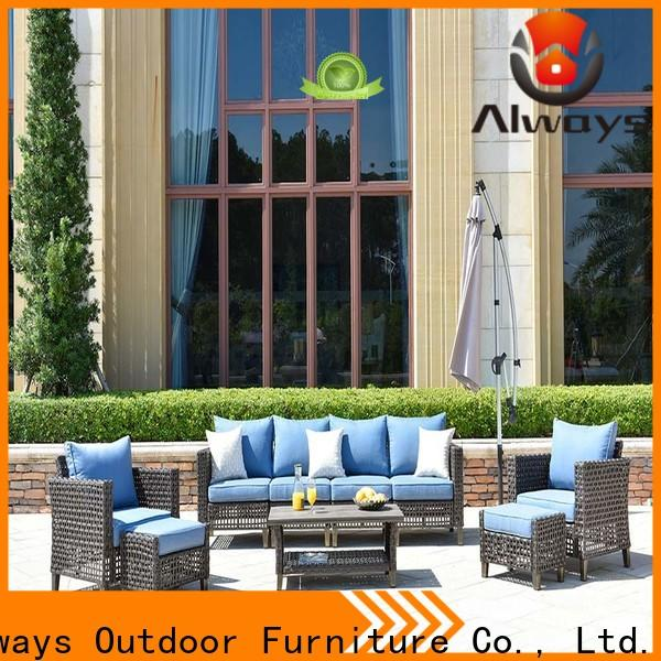Always comfort resin patio furniture factory price for porch