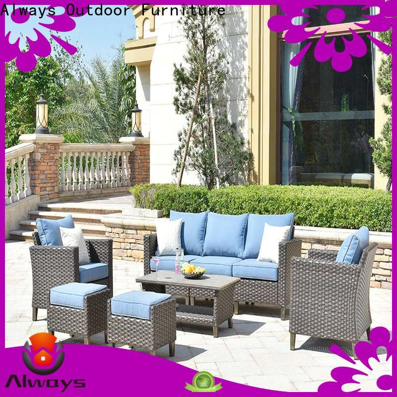 Always comfortable resin wicker patio furniture set for swimming pools for outdoor leisure for places