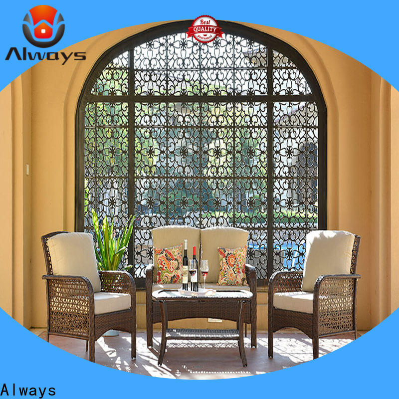 Always augtus wicker outdoor sofa set promotion for porch