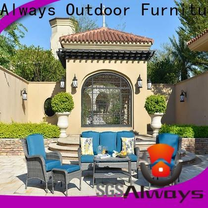 Always comfortable all weather wicker sofa set for porch