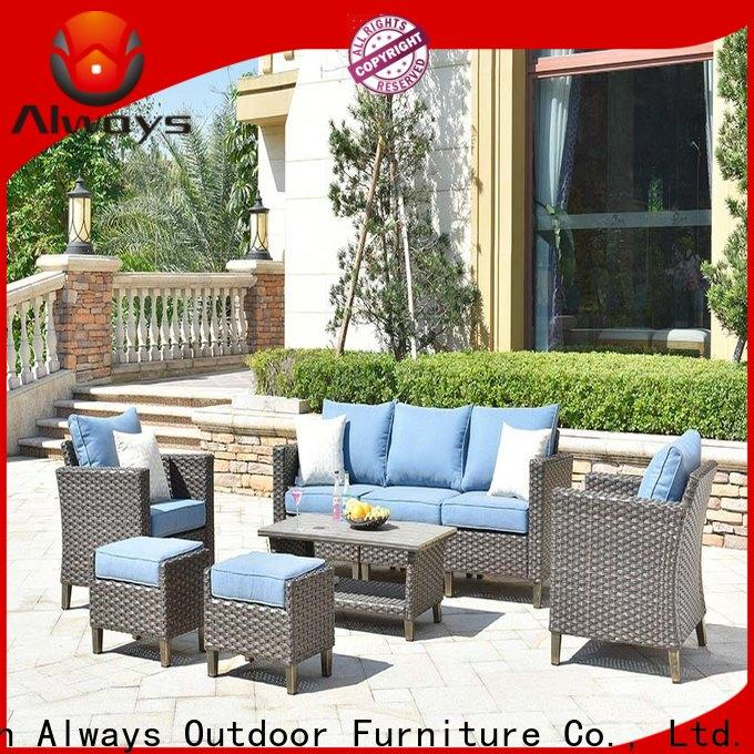 Always oem wicker outdoor furniture from China for porch